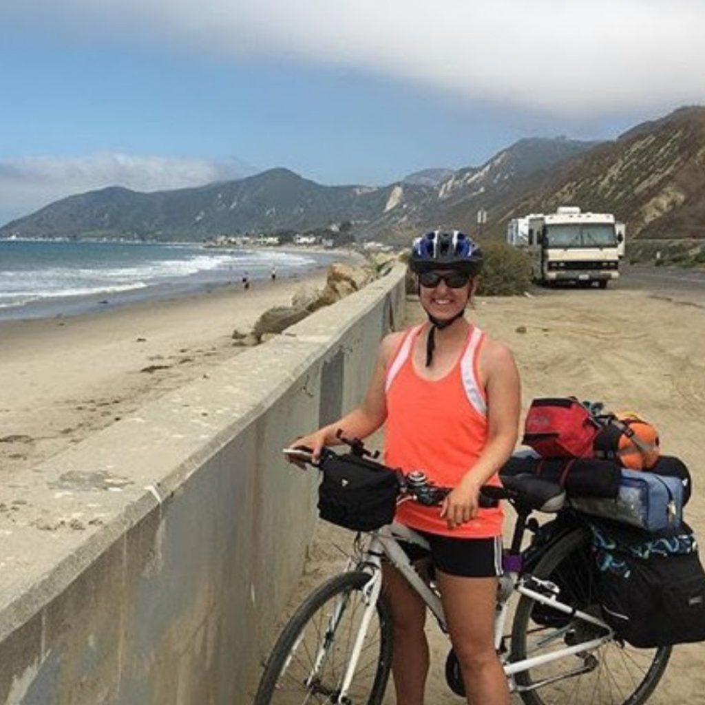 Trip Leader Aimee, working as a Bicycle Trip Leader is the best outdoor adventure summer job!