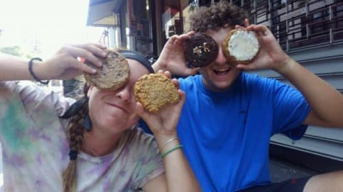 Cookies are a great snack on a Teen Treks summer bicycle tour.