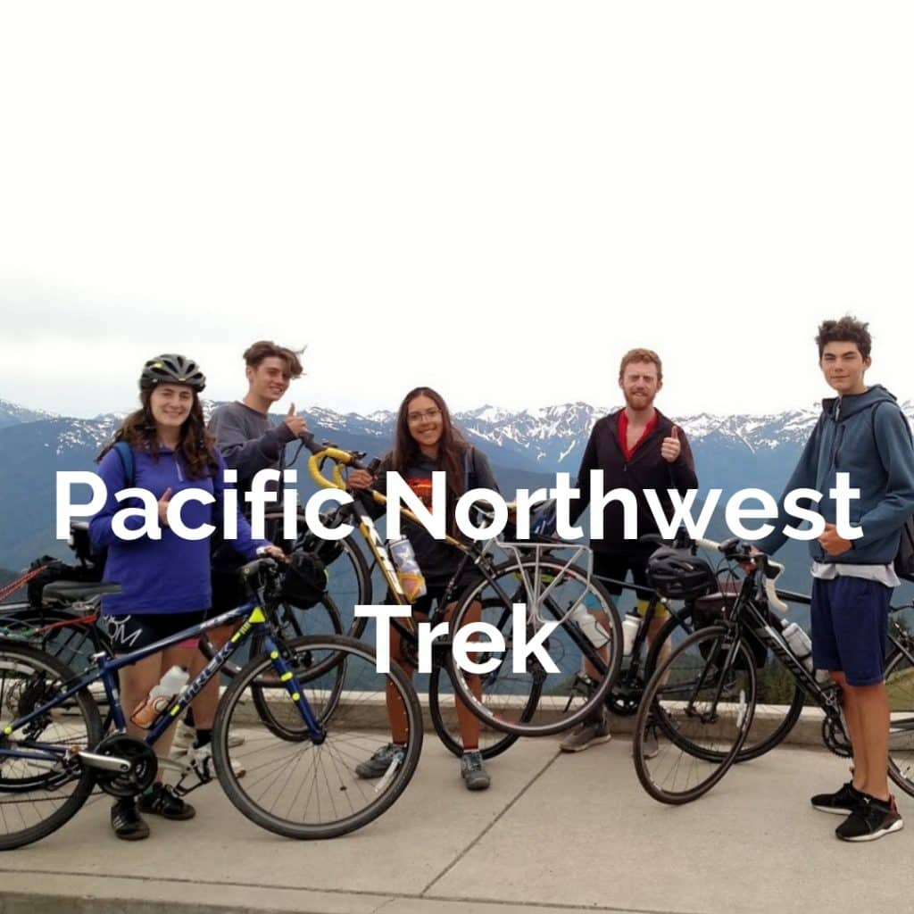 Pacific Northwest Trek bicycles around the Puget Sound starting in Seattle and visiting the San Juan Islands, Vancouver, Victoria, and Olympic National Park.