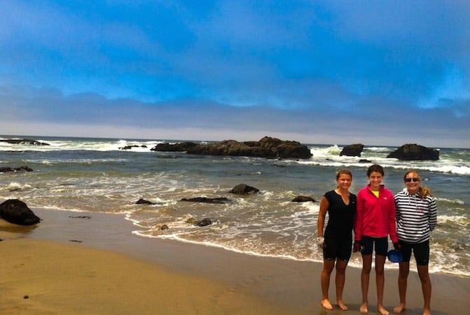 California Coast teens on the beach