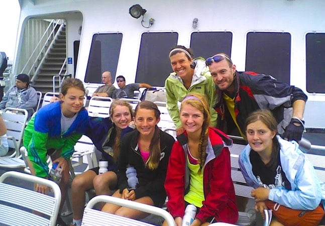 Teen Treks group on ferry
