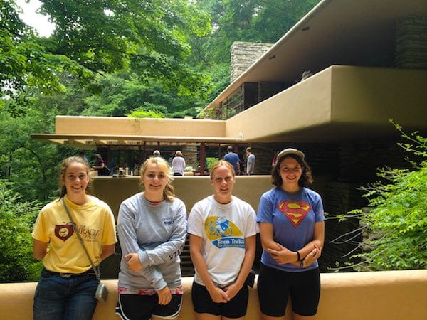 Fallingwater on the Great Allegheny Passage Trek