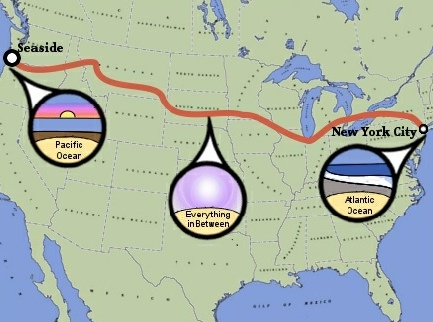 Across America Bicycle Trip Map