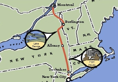 New York City to Montreal Bicycle Trip Map
