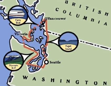 Pacific Northwest Bicycle Trip Map