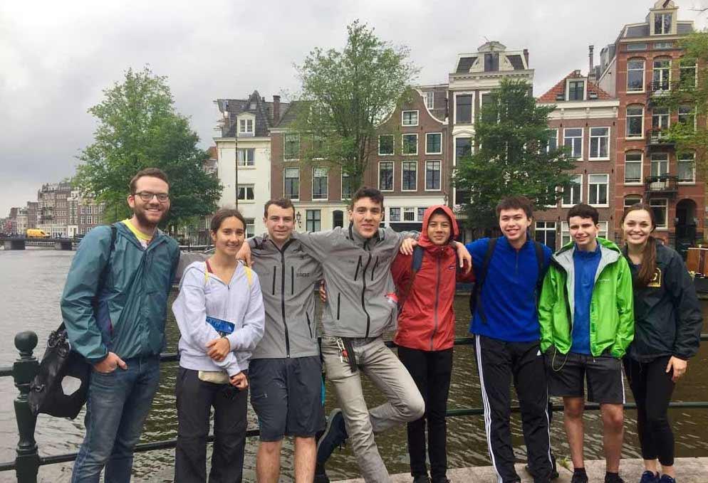 Teen Treks bicycling group in Amsterdam